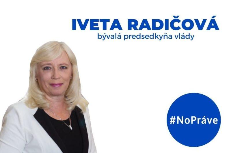 Iveta Radičová v štúdiu podcastu NoPráve
