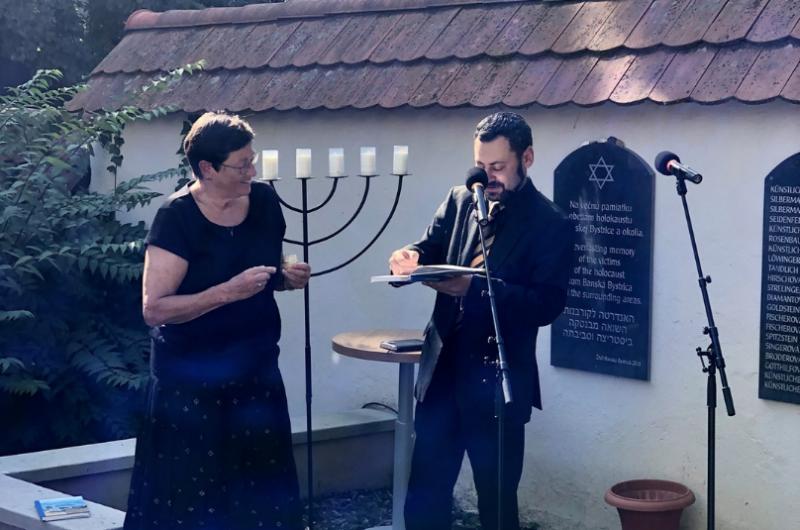 Alica Frühwaldovás a rabín Miša Kapustin